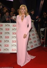 The NTAs 2017: This simple, elegant, pale pink coloured dressed flowed gorgeous, on Holly