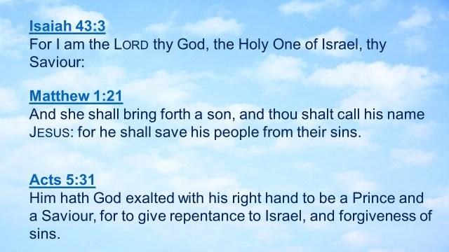 Savior of Israel