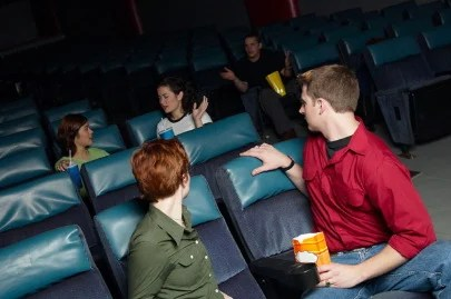 Image result for talking in movie theaters