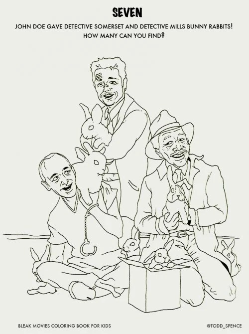 Bleak Movies Made Into Fun Coloring Books