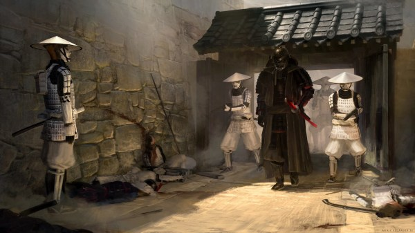 """Star Wars Samurai Concept Art """"lord Vader And Troops"""