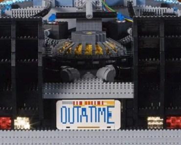 Massive 'Back to the Future' LEGO DeLorean Time Machine