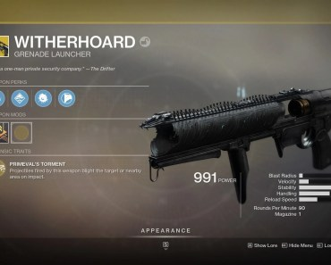How to Get the Witherhoard Catalyst in Destiny 2