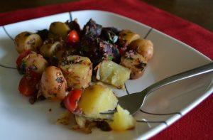 Olive Sun-Dried Tomato Potato Salad
