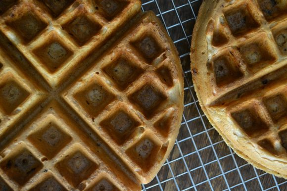 Closeup of Grapefruit Waffles