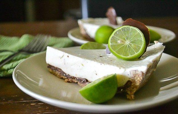 Vegan Chocolate-coated Key Lime Pie by An Unrefined Vegan