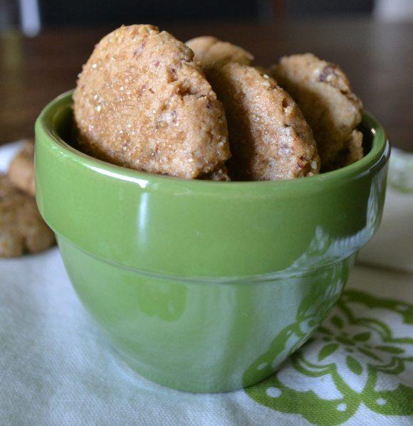 Tahini Orange Crumble Cookies