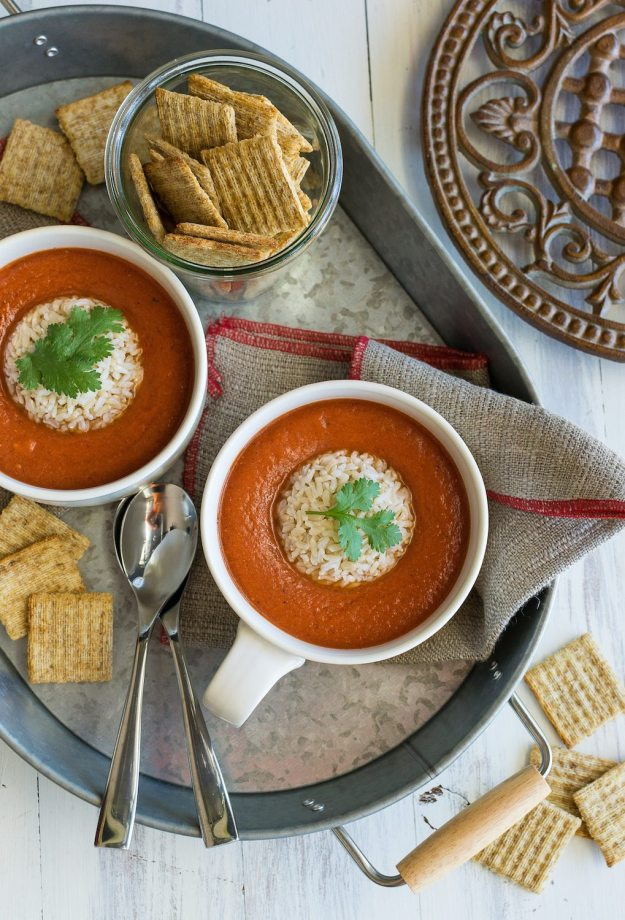 Oil-free Thai Tomato Soup by An Unrefined Vegan