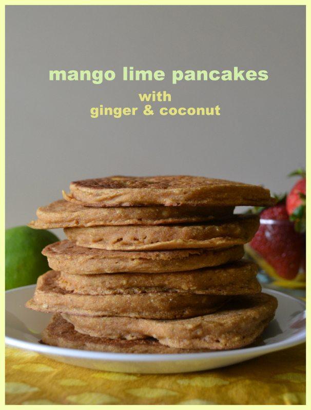 Vegan Mango Lime Pancakes by An Unrefined Vegan