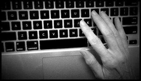 Hand on Keyboard