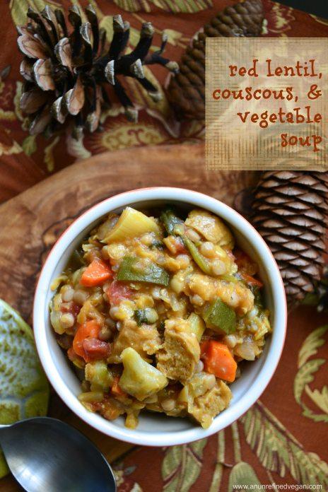 lentil soup in bowl