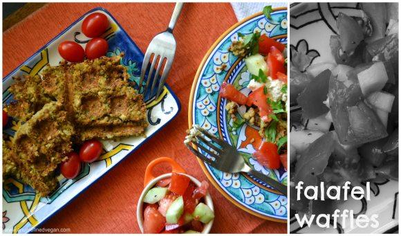 falafel waffle collage