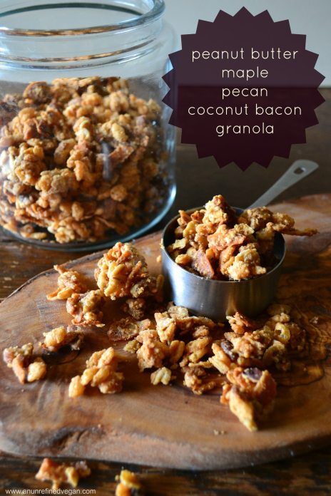 pb maple pecan coconut bacon granola