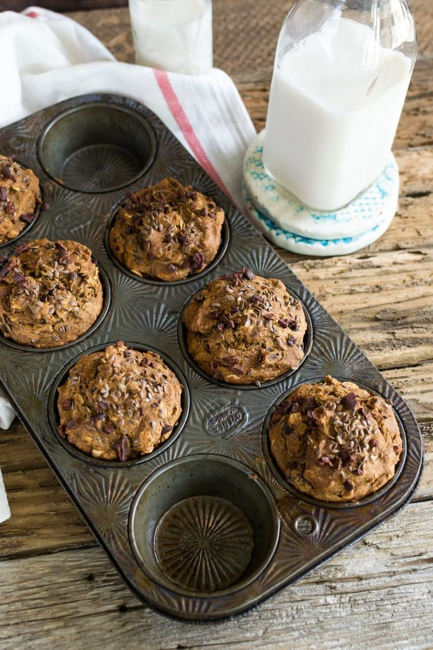 Oil-free Banana Flax Date Muffins by An Unrefined Vegan