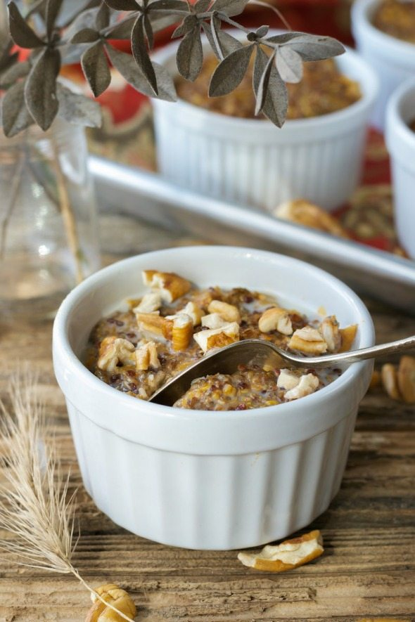 Baked Whole Grain Pumpkin Hot Cereal An Unrefined Vegan