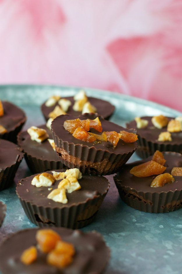 Chocolate Apricot Truffle Chocolate Cups An Unrefined Vegan