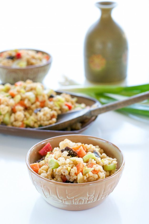 Curried Brown Rice Salad Photo by Annie Oliveriio