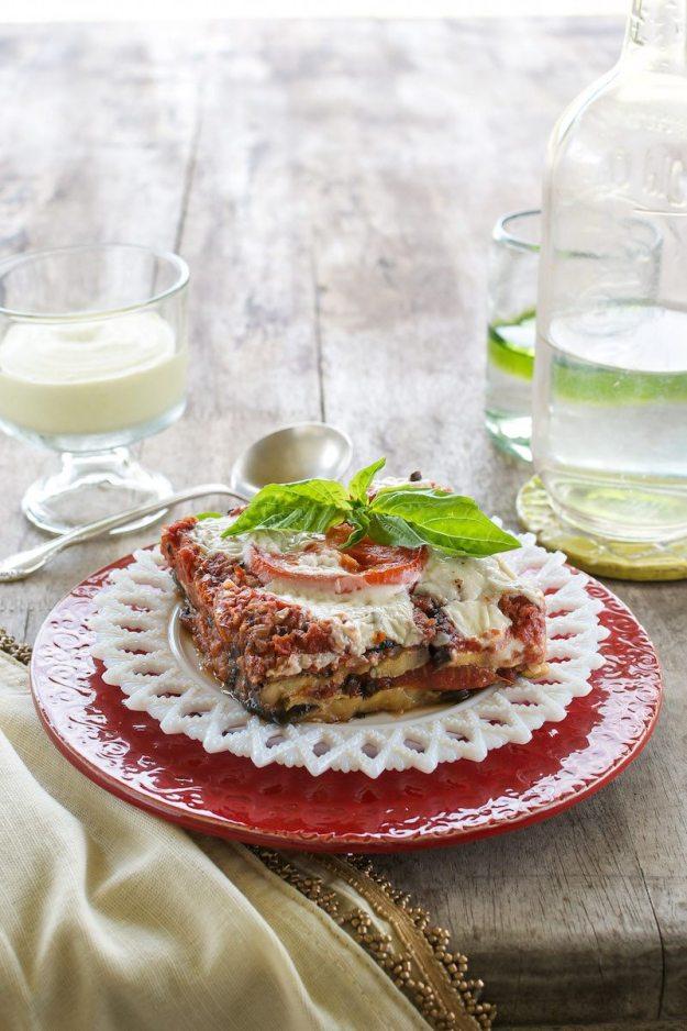Roasted Veggie Lasagna from The Abundance Diet Photo by Annie Oliverio