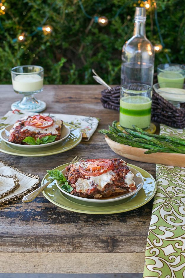 Roasted Vegetable Lasagna from The Abundance Diet by Somer McCowan Photography by Annie Oliverio
