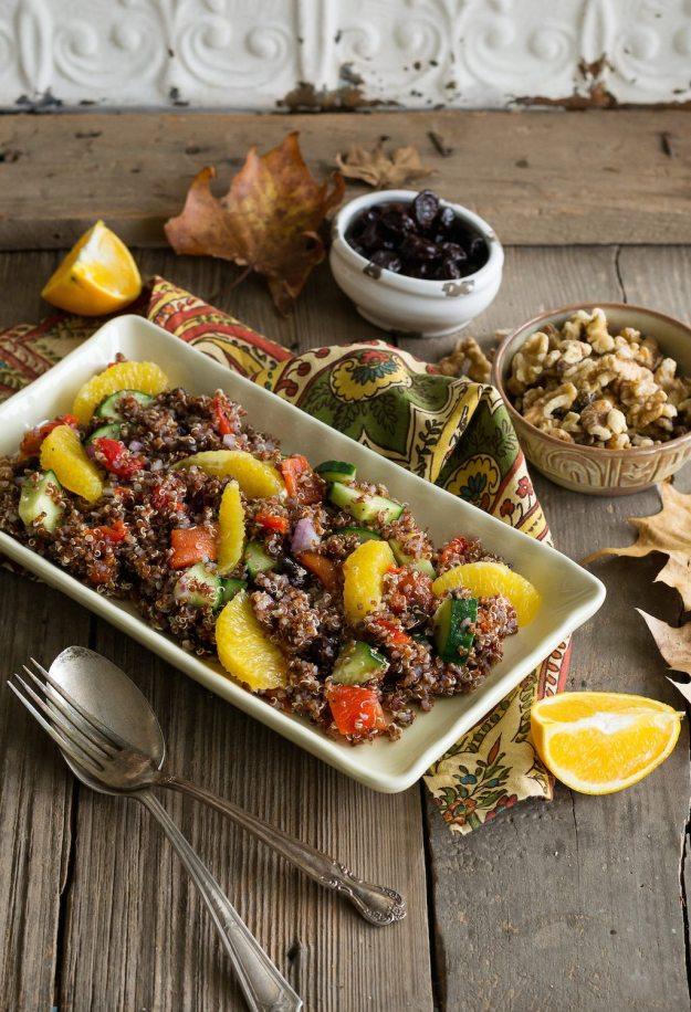 Quinoa & Walnut Salad An Unrefined Vegan