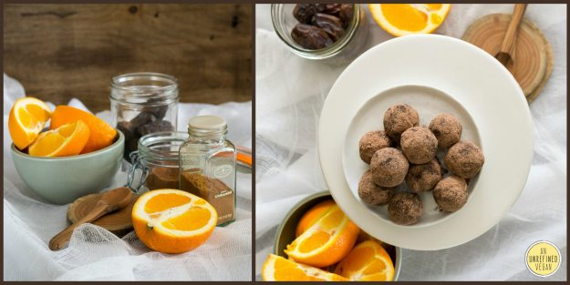 Vegan Chocolate Orange Truffles by An Unrefined Vegan