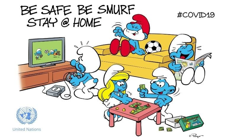 Be Smurfs, Stay Home and Wash your Hands | COVID-19