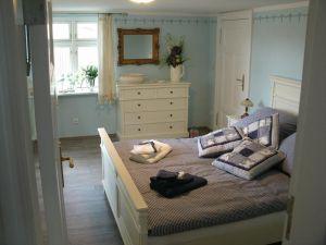 Schlafzimmer, uns lütt Hüsing, Urlaub, Ferienhaus, Ostsse