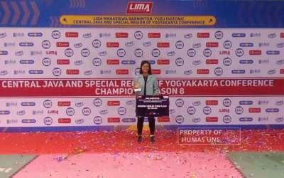 Anggepy Mulan Sari, Mahasiswa UNS Peraih Juara 3 Tunggal Putri LIMA Badminton Berturut-turut