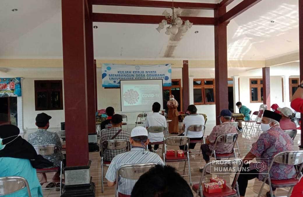 Tim KKN UNS 148 Sosialisasikan Bahaya Covid-19 dan Vaksinasi untuk Lansia di Desa Gombang, Boyolali