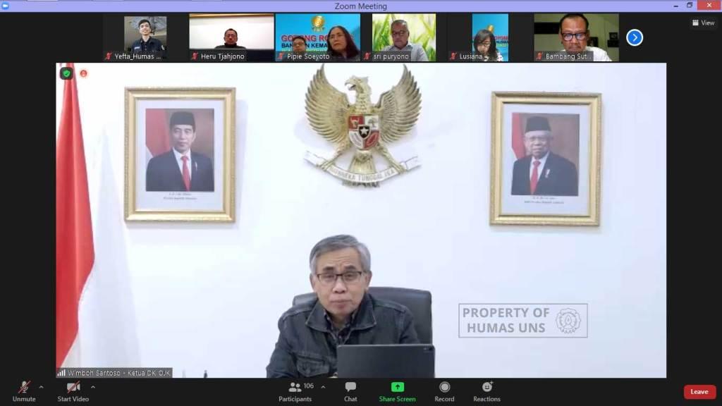 Wedangan IKA UNS: Ketua OJK Bicara Tekad Pemerintah Wujudkan Herd Immunity