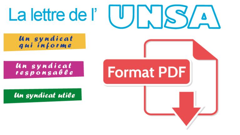 [UNSA] Lettre de l'UNSA n°23 sur le projet de Loi de Transformation de la Fonction Publique