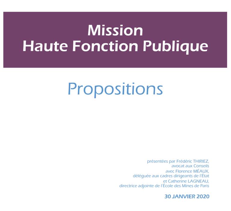 [UNSA] Quelles évolutions pour les cadres A+ de la fonction publique territoriale ? /// Publication du rapport Frédéric Thiriez