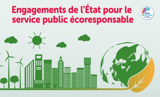 [UNSA] Engagements de l'État pour des services publics écoresponsables