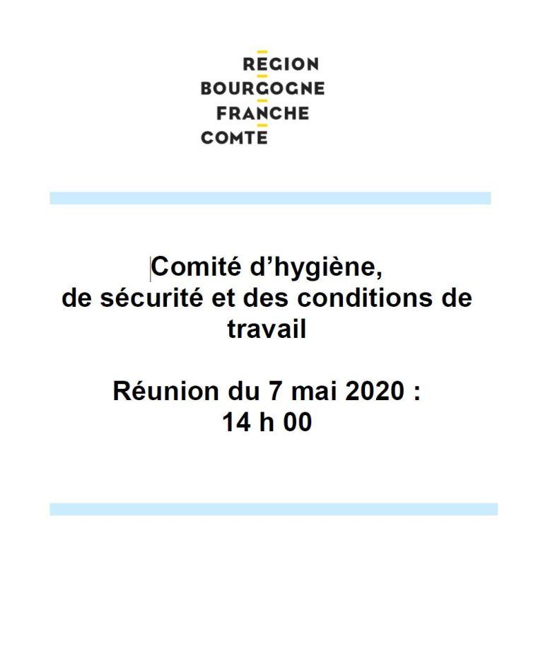 [UNSA] Ordre du jour du CHSCT du 7 mai 2020 avec la Présidente du Conseil régional
