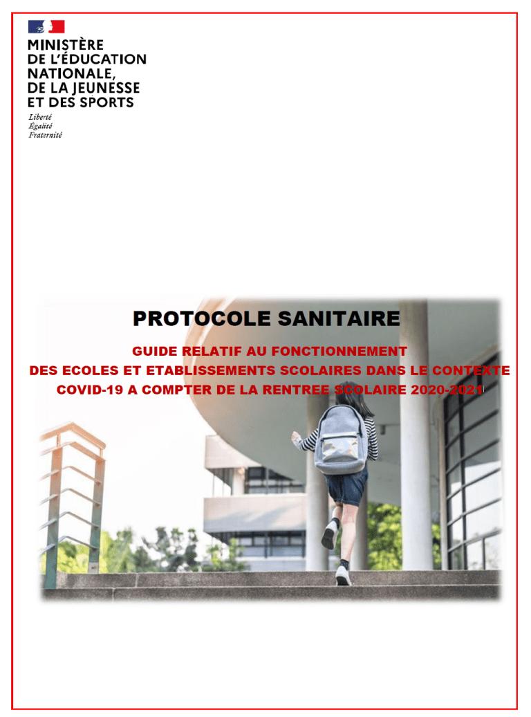 [UNSA] Publication du protocole de rentrée scolaire 2020-2021 #COVID19