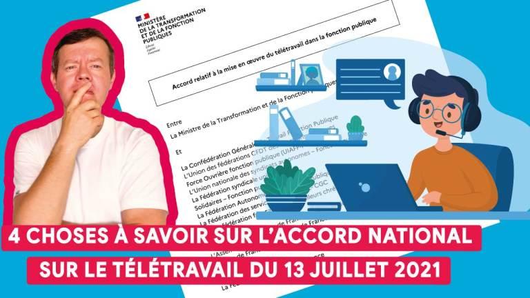 🎬 Tadaaaaaa 📹  en 6 minutes, l'essentiel de l'accord cadre national sur le télétravail du 13 juillet 2021