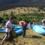 Extreme family fun kayaking in Wyoming