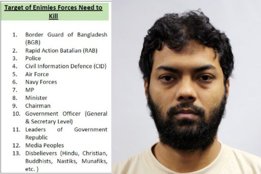 "Extract from a document titled ""We Need For Jihad Fight"" that was recovered from Rahman Mizanur, who set up a clandestine group that he called Islamic State in Bangladesh (ISB). PHOTOS: MHA (via straitstimes.com)"