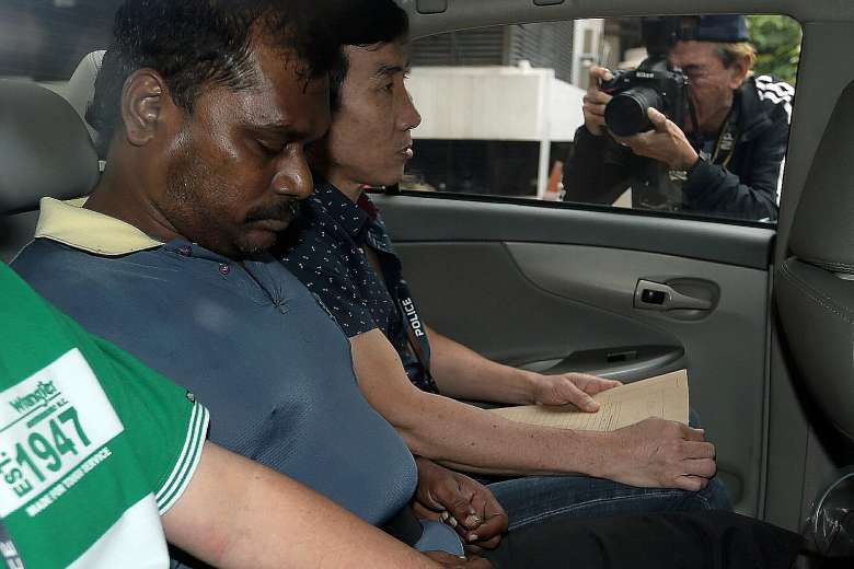 Thennarasu is accused of murdering Mr Arokiasamy at Taj Mahal Bollywood Music Lounge at Boat Quay.ST PHOTO: WONG KWAI CHOW