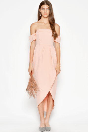 Bridesmaid dress Love and Bravery AGATA OFF SHOULDER DRESS PINK