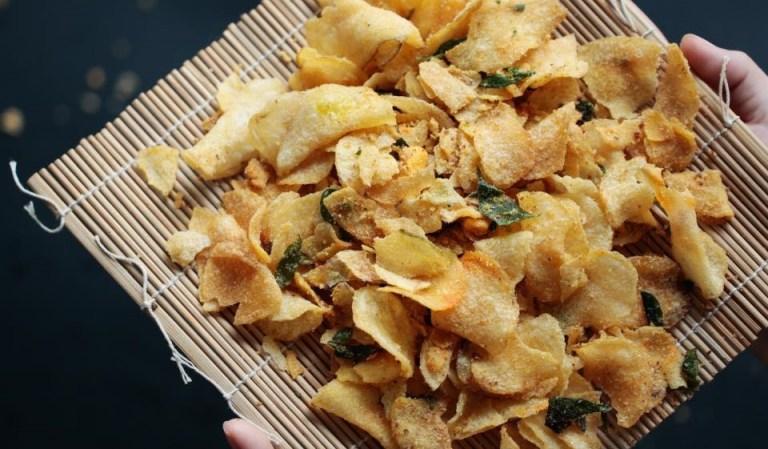 Salted egg chips