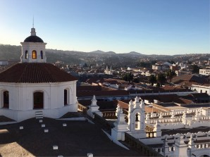 The view from the bell tower of San Felipe Neri, Sucre