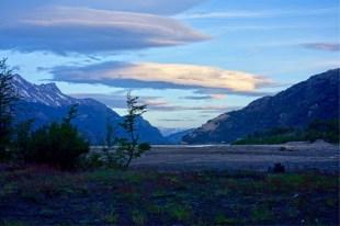 Sunset riverside view