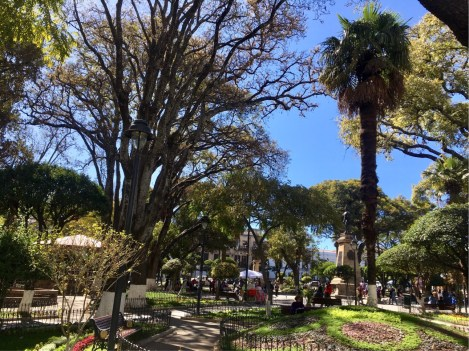 Sucre's Main Plaza - 25 de Mayo