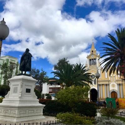 Loja's main plaza