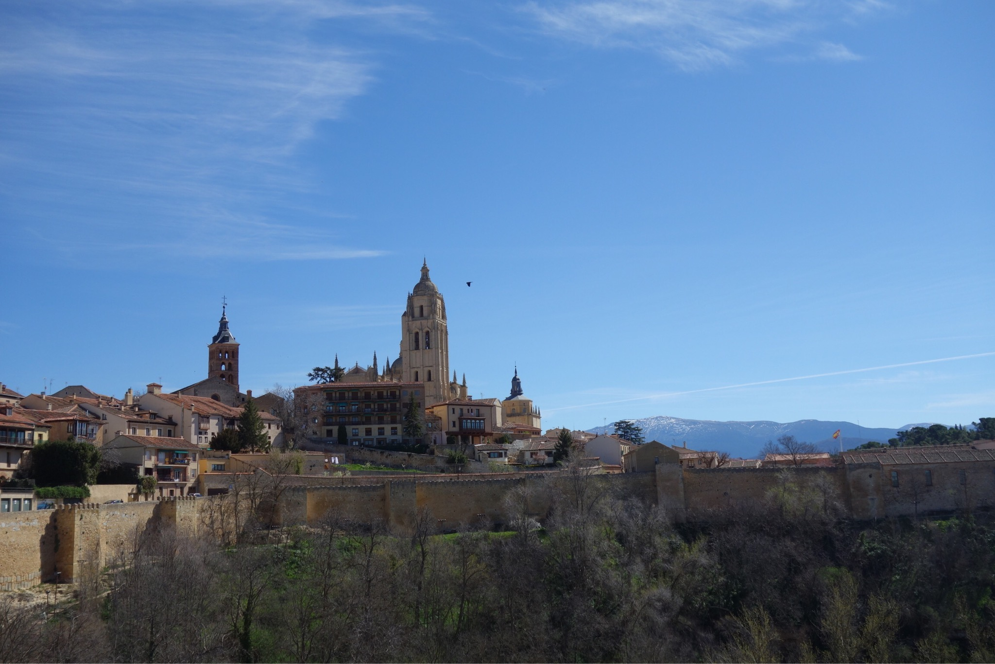 View of the Cathedral in Segovia