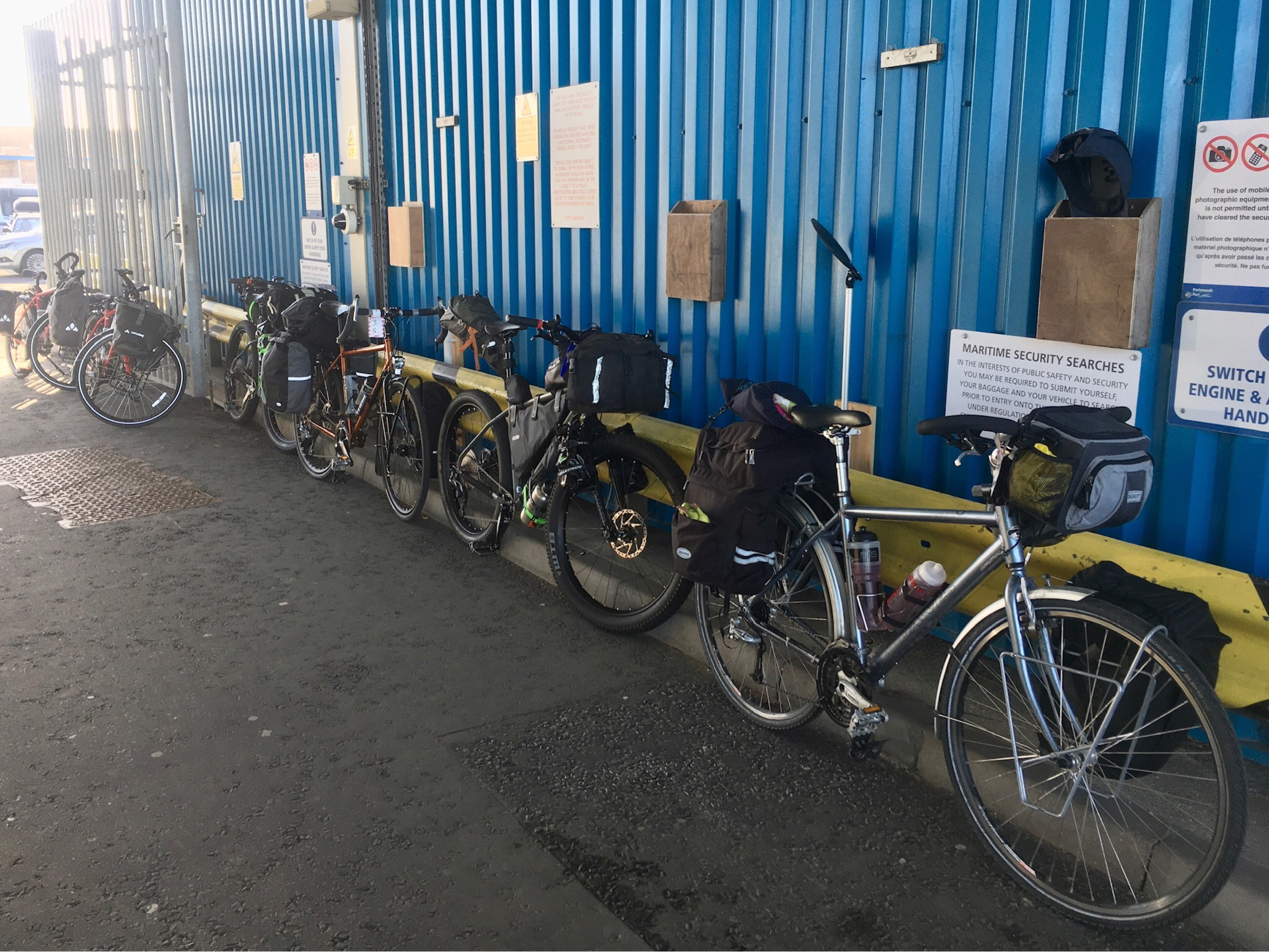 Bikes at Portsmouth Harbour