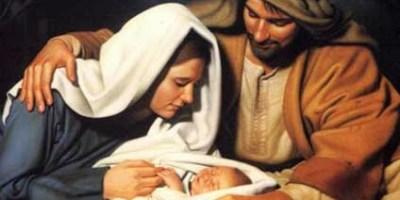 La Virgen María, san José y el Niño