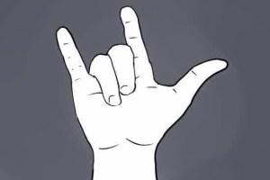Te quiero en lenguaje de signos