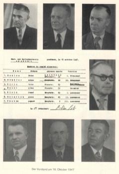Der Vorstand am 16.10.1947
